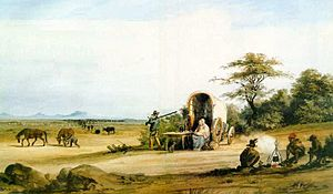 An account of the first trekboers. TrekBoers crossing the Karoo.jpg