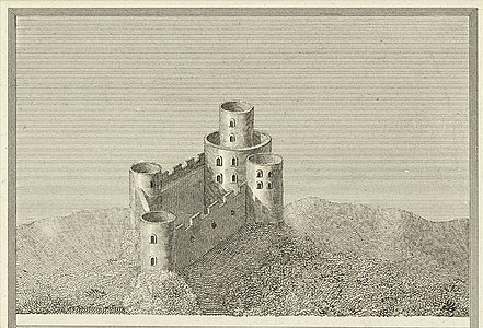 Tretower Castle - From a survey in the beginning of the 6th century.jpeg