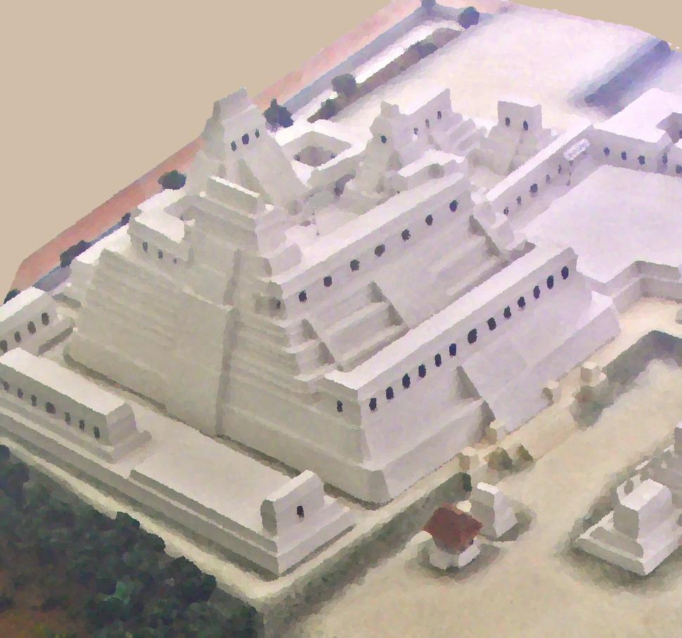 Triadic pyramid model, Caracol