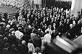 Troonswisseling 30 april , inhuldiging in Nieuwe Kerk overzicht tijdens verlat, Bestanddeelnr 930-8071.jpg