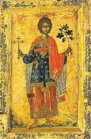 Tryphon, Respicius, and Nympha - Serbian Orthodox icon of St. Tryphon of Campsada.