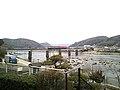 Tsuyama Line Train Crosses Asahi River.jpg