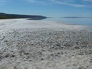 Lake Tuz - Salty shores of Lake Tuz.