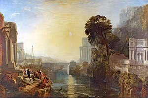 Dido building Carthage - J. M. W. Turner, Dido building Carthage, or The Rise of the Carthaginian Empire, 1815