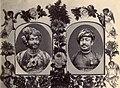 Two vignettes in a floral border, H.H. Rasulkhanji, KCSI, Nawab of Junagadh and Baha'ud'dinbhai Hasainbhai, CIE, Vazier, Junagadh.jpg