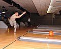 U.S. Air Force 2nd Lt. Joseph Cortez, assigned to the 355th Security Forces Squadron, bowls during the bowling tournament for Comprehensive Airman Fitness Week at Davis-Monthan Air Force Base, Ariz., May 21 130521-F-WZ808-436.jpg