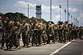 U.S. Marines walk off the runway at Clark Air Base in Pampanga province, Philippines, Sept 140926-M-RN526-042.jpg