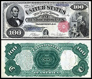 United States one hundred-dollar bill - 1880 $100 Legal Tender