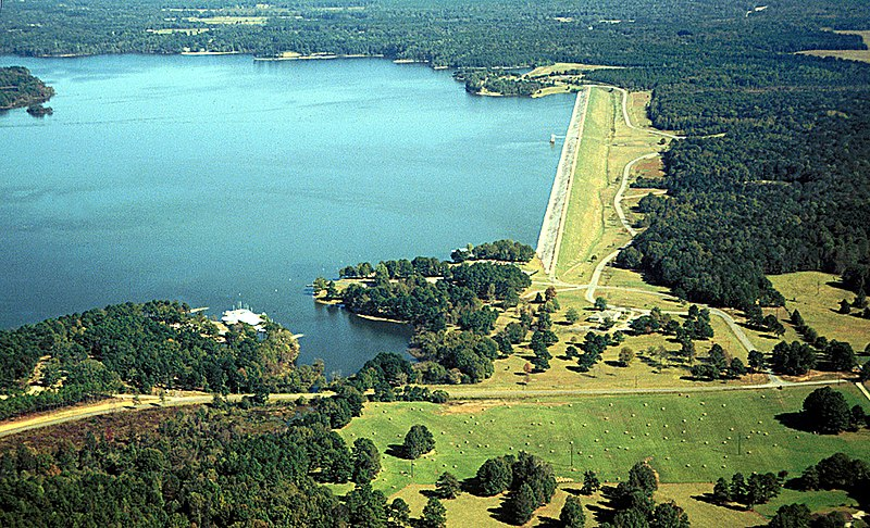 File:USACE Okatibbee Lake and Dam.jpg