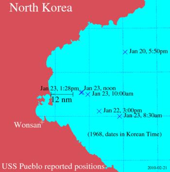 USSPueblo positions