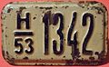 USSR, ESTONIAN S.S.R. 1953 -BICYCLE LICENSE PLATE ^1 FRONT VIEW - Flickr - woody1778a.jpg