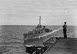 USS Ernest G. Small (DD-838) approaches USS Sicily (CVE-118) off Korea, in 1950.jpg
