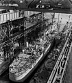 USS Northampton (CLC-1) at the Fore River Shipyard in December 1952.jpg