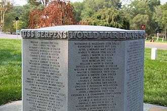 USS Serpens (AK-97) - Memorial to the dead of USS Serpens at Arlington National Cemetery.