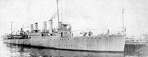 USS Welles (DD-257) at Boston, Massachusetts (USA), on 2 September 1919 (NH 105327)