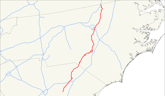 U.S. Route 401 - Image: US 401 map