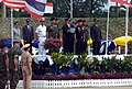 US Ambassador to Thailand, The Honorable Carroll N. Johnson, speaks during the opening ceremony for Exercise COBRA GOLD 2003, held at Utapao National Airport, Thailand.jpg