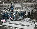 US Marines Decorating Grave of Lafayette, Picpus Cemetery, Paris 1889.jpg
