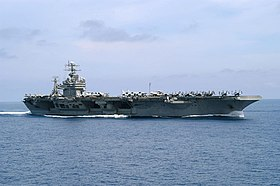 US Navy 030412-N-0275F-504 USS Theodore Roosevelt (CVN 71) underway conducting combat missions in support of Operation Iraqi Freedom.jpg