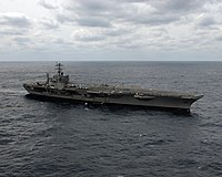 US Navy 050309-N-9362D-001 The Nimitz-class aircraft carrier USS Theodore Roosevelt (CVN 71) underway off in the Atlantic Ocean off the coast of North Carolina while conducting carrier qualifications.jpg