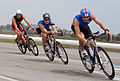US Navy 070728-N-1722M-178 Two Navy triathletes lead the way during the cycling portion of the Armed Forces Triathlon at Point Mugu.jpg
