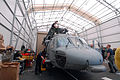 US Navy 070730-N-8704K-102 Maintenance personnel prepare an MH-60S Seahawk from Helicopter Sea Combat Squadron (HCS) 28 for flight aboard hospital ship USNS Comfort (T-AH 20) during a scheduled port visit to Acajutla.jpg