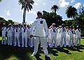 US Navy 081023-N-0995C-021 A Chief Petty Officer stands with Sailors at parade rest during a change of command ceremony.jpg