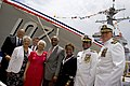 US Navy 090516-N-5549O-185 Christening ceremony for the Aegis-class destroyer precommissioning unit Samuel L. Gravely (DDG 107).jpg