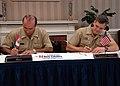 US Navy 090624-N-2821G-002 Peruvian Navy Rear Adm. Mario Luis Caballero Ferioli and Capt. Wayne Harrison sign a memorandum of understanding.jpg