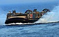 US Navy 100823-N-7948R-159 A landing craft air cushion approaches the amphibious dock landing ship USS Pearl Harbor (LSD 52). Pearl Harbor is part of the Peleliu Amphibious Ready Group.jpg