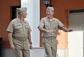US Navy 101005-N-8273J-029 Adm. Mark P. Fitzgerald, commander of U.S. Naval Forces Europe-Africa, right, escorts Chief of Naval Operations (CNO) Ad.jpg