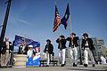 US Navy 110410-N-1810F-019 Members of the USS Constitution honor guard present the colors during an outdoor reception.jpg