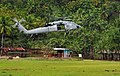 US Navy 110621-N-KB563-695 An MH-60S Sea Hawk helicopter prepares to land at a community relations project at Iliomar village.jpg