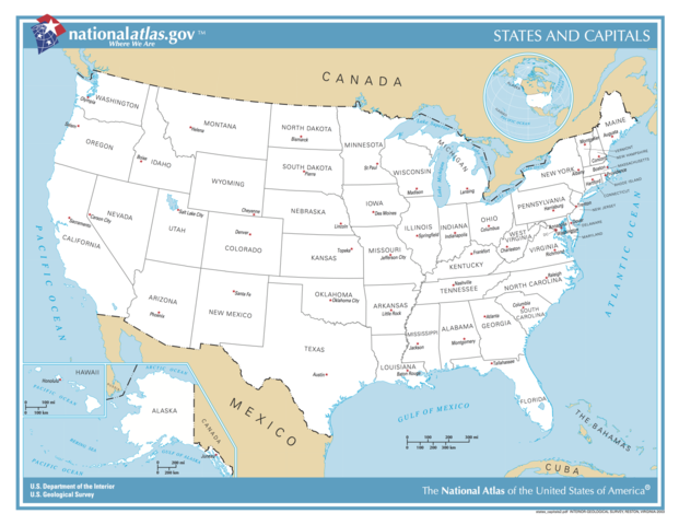 FileUS Map States And Capitalspng Wikimedia Commons - Map of united states of america with capitals