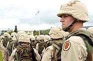 US soldiers wearing the PASGT helmet, Hawaii