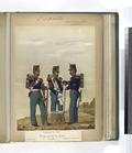 Uniforme de Gala. Regimientos de Linea- Corneta, Tambor, Cabo de tambores. 1853 (NYPL b14896507-91307).tiff