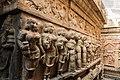 Unique carvings outside the Uma Maheshswara shrine - Bhoga Nandeeshwara Temple.jpg