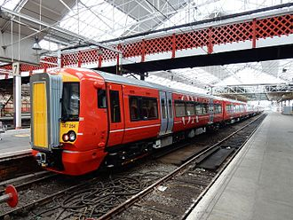 British Rail Class 387 - Gatwick Express Class 387/2 No. 387204 at Crewe.