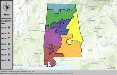 United States Congressional Districts in Alabama, 2003 – 2013.tif