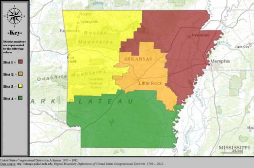 Arkansas United States Map.Arkansas S Congressional Districts Wikipedia