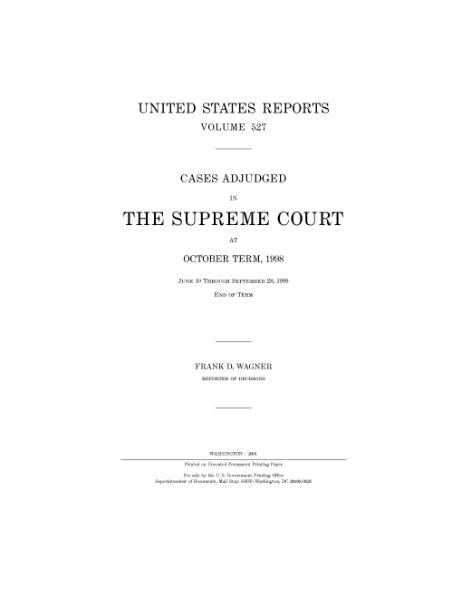 File:United States Reports, Volume 527.djvu