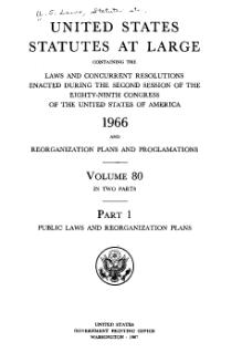 United States Statutes at Large Volume 80 Part 1.djvu
