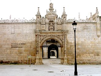 "University of Burgos - ""Romeros Gate""(1562): A symbol of the university, entrance to the ""Hospital del Rey"", the School of Law, and the office of the rector"