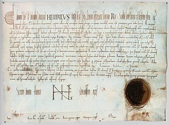 Erlangen - Certificate of Holy Roman Emperor Henry II. from 1002, first mentioning Erlangen