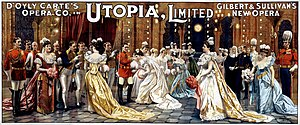 Utopia, Limited - An early advertisement showing the Drawing Room Scene