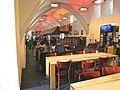V.Blick in die Marstall-Mensa, im ältesten mittelalterlichen Gebäude Heidelbergs, auf ihre Innenausstattung und Architektur 1393.JPG