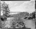 VIEW OF BRIDGE FROM EAST - North Carolina Route 126 Bridge, Spanning Lake James Canal, Linville, Burke County, NC HAER NC,12-MAR.V,1-2.tif