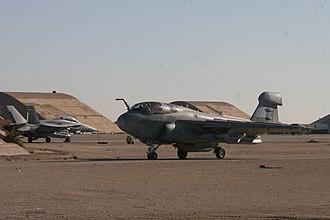 VMAQT-1 - VMAQ-1 Prowler on the tarmac at Al Asad Air station in Western Iraq in January 2006