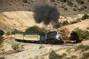 Virginia and Truckee Railroad - Train operating on the restored line
