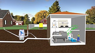 Vacuum sewer Method of transporting sewage from its source to a sewage treatment plant